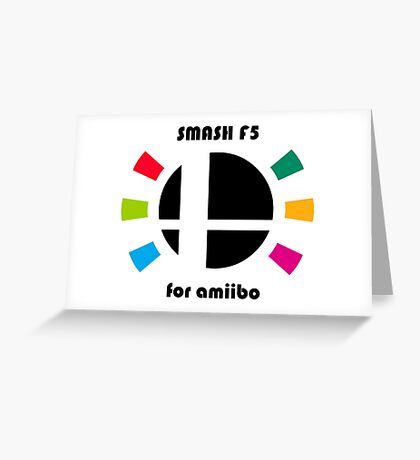 Smash F5 for amiibo Greeting Card