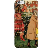 Beauty and the Beast by Walter Crane 1875 3 - In the Garden iPhone Case/Skin