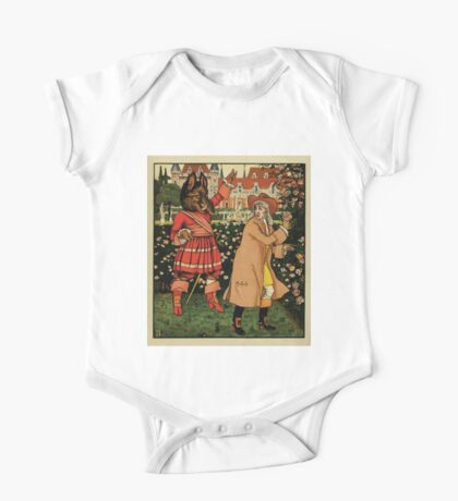 Beauty and the Beast by Walter Crane 1875 3 - In the Garden One Piece - Short Sleeve