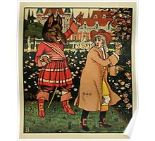 Beauty and the Beast by Walter Crane 1875 3 - In the Garden Poster