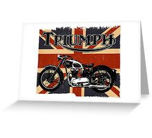 Triumph Motorcycle Greeting Card