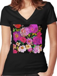Petal Power Women's Fitted V-Neck T-Shirt