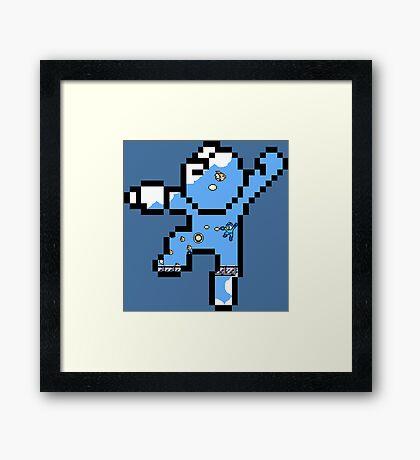 Megaman - Bird bomber Framed Print