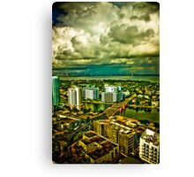 Stormy Skies, New horizons... Canvas Print