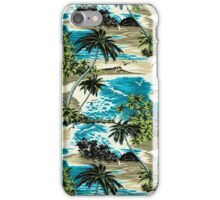 Diamond Head Scenic Hawaiian Aloha Shirt Print - Teal iPhone Case/Skin