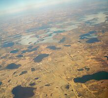 Minnesota View from Air  ~ Ice still on the lakes! by Diane Trummer Sullivan