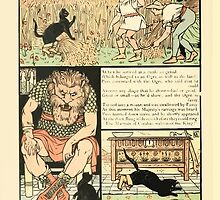 Cinderella Picture Book containing Cinderella, Puss in Boots, and Valentine and Orson Illustrated by Walter Crane 1911 38 - Ogre into Mouse by wetdryvac