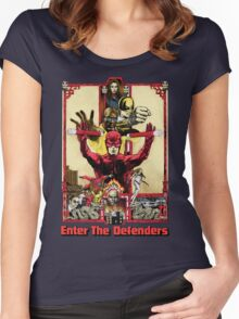 Enter The Defenders Women's Fitted Scoop T-Shirt