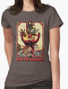 Enter The Defenders Womens Fitted T-Shirt