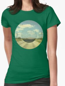 Open Road Collage Womens Fitted T-Shirt