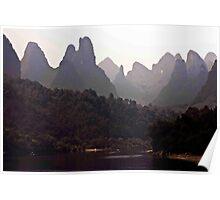 Karst Peaks At The Bend Poster