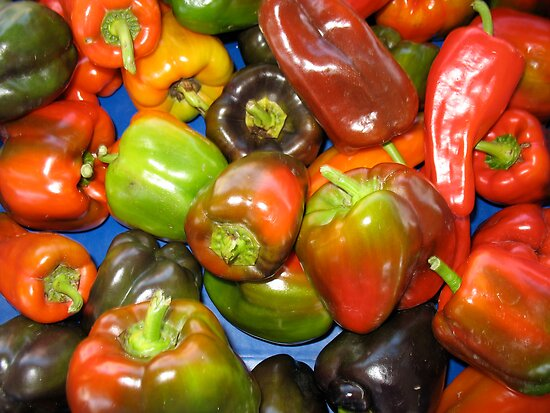 Peppers at Ann Arbor Farmers Market by Roger Wheaton