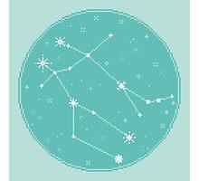8bit Constellations:  Gemini Photographic Print
