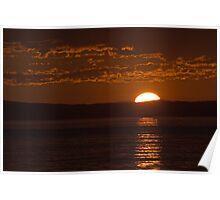 Sunset at Deception pass WA. Poster