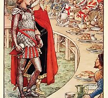 King Arthur's Knights - The Tale Retold for Boys and Girls by Sir Thomas Malory, Illustrated by Walter Crane 299 - Sir Galahad is Brought to the Court of King Arthur by wetdryvac
