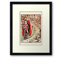 King Arthur's Knights - The Tale Retold for Boys and Girls by Sir Thomas Malory, Illustrated by Walter Crane 299 - Sir Galahad is Brought to the Court of King Arthur Framed Print