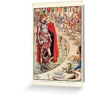 King Arthur's Knights - The Tale Retold for Boys and Girls by Sir Thomas Malory, Illustrated by Walter Crane 299 - Sir Galahad is Brought to the Court of King Arthur Greeting Card