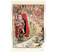 King Arthur's Knights - The Tale Retold for Boys and Girls by Sir Thomas Malory, Illustrated by Walter Crane 299 - Sir Galahad is Brought to the Court of King Arthur Poster