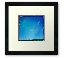 CELEBRATION OF LIFE - Graduation Framed Print
