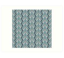 Metallic Spade Pattern Art Print