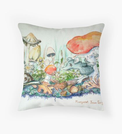 The Mouse and the Snail........... Throw Pillow