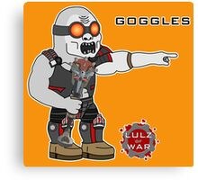 Lulz Of War: Goggles Canvas Print