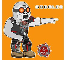 Lulz Of War: Goggles Photographic Print