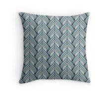 Metallic Spade Pattern Throw Pillow