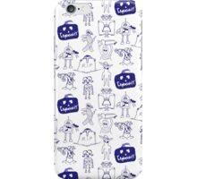 Community Halloween repeat pattern. iPhone Case/Skin