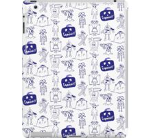 Community Halloween repeat pattern. iPad Case/Skin