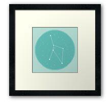 8bit Constellations:  Cancer Framed Print