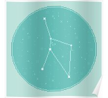8bit Constellations:  Cancer Poster