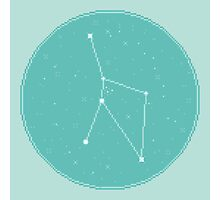 8bit Constellations:  Cancer Photographic Print