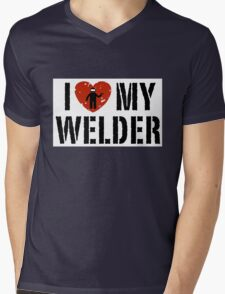 I love my Welder Shirt, Sticker, Cases, Skins, Mug, Poster Mens V-Neck T-Shirt