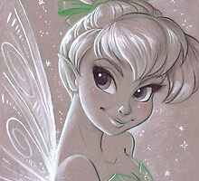 Toned Paper TinkerBell by CherryGarcia