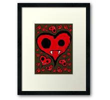 Heart Vampire Framed Print