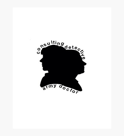 Consulting Detective and Army Doctor (Sherlock/John) Photographic Print