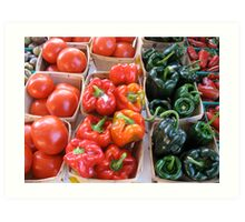 Vegetables at Farmers Market Art Print