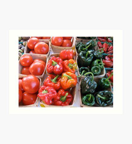 Vegetables at Farmers Market Art Print