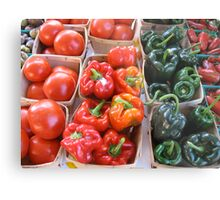 Vegetables at Farmers Market Metal Print