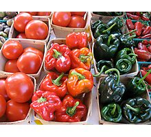 Vegetables at Farmers Market Photographic Print