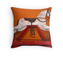 The Rocking Horse Throw Pillow