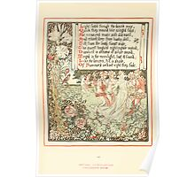 Queen Summer, or, The Tourney of the Lilly and the Rose by Walter Crane 1891 46 - Light footed through the dancer's maze Poster