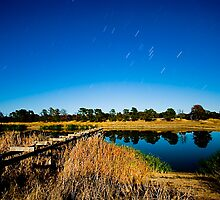 Serviceton Reservoir by Moonlight by Murray Wills