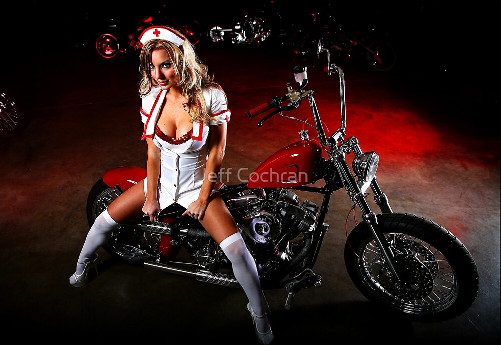 Nurse On Shovel by Jeff Cochran