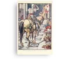 King Arthur's Knights - The Tale Retold for Boys and Girls by Sir Thomas Malory, Illustrated by Walter Crane 217 - Perceval Obtains the Shield of the Beating Heart Canvas Print