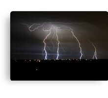 Another Stormy Nite in OKC Canvas Print