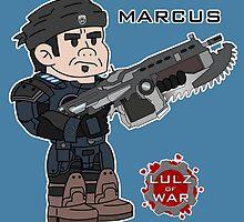Lulz Of War: Marcus by davidjonesart