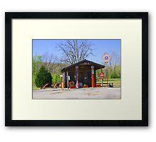 Old Time Service station  Framed Print