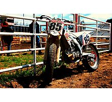 Crf450 Dirt Track bike Photographic Print